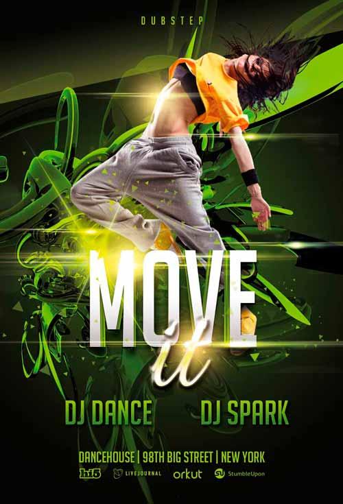 free dance flyer templates