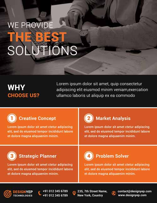 Download Corporate Agency Free PSD Flyer Template - corporate flyer template