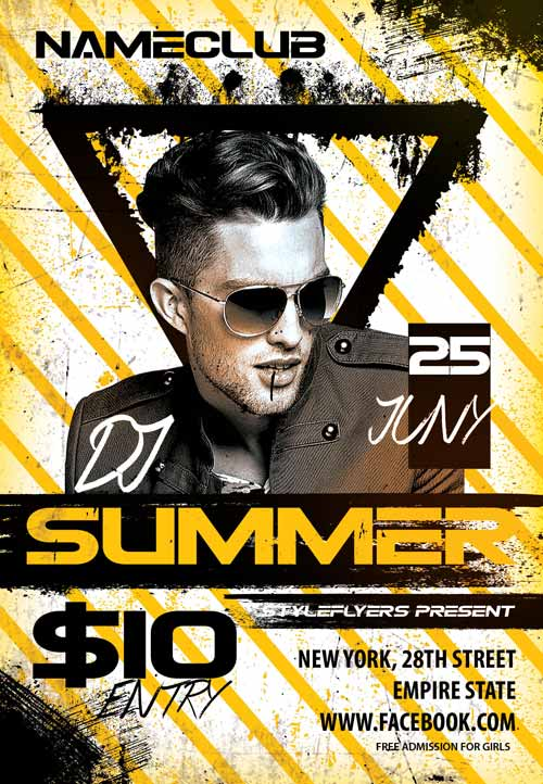 Download the Dj Summer Party Flyer Template