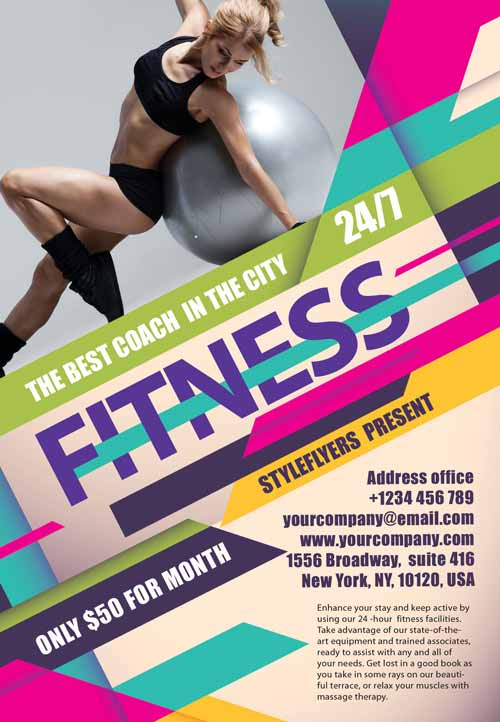 FreePSDFlyer Download the Fitness Gym Free Flyer Template
