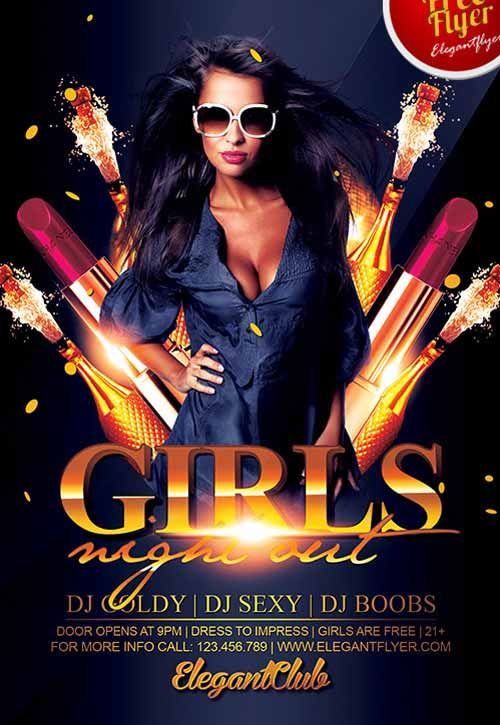 Smart Girl Wallpaper Free Download Download The Girls Night Out Party Free Flyer Template