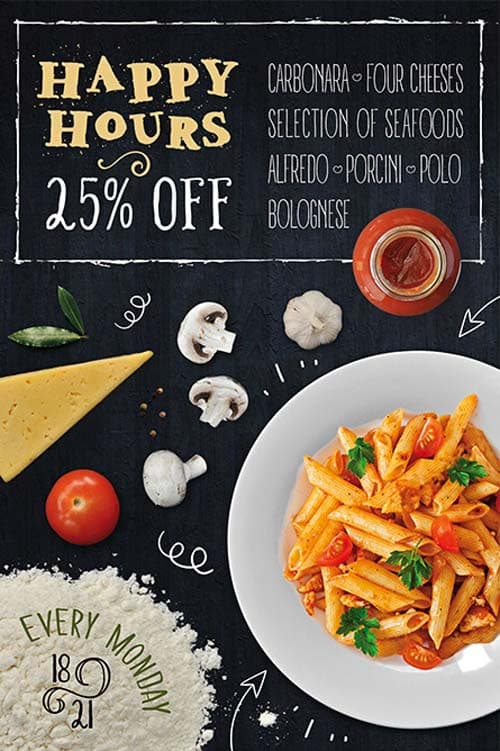 FreePSDFlyer Pasta Restaurant Free Flyer Template - Download PSD - food flyer template