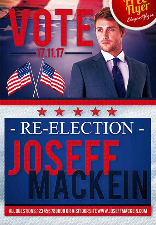 Download the Political Vote Promotion Free Flyer Template - free meet and greet flyer template