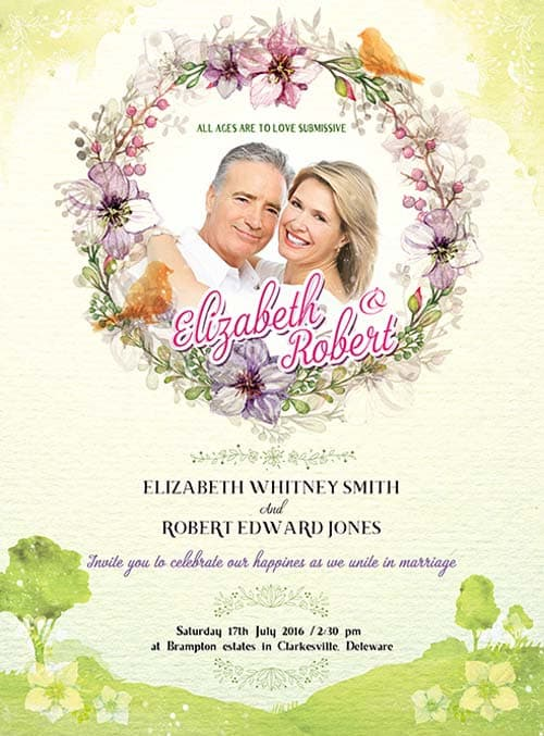 FreePSDFlyer Wedding Invitation Free PSD Flyer Template Download - wedding flyer