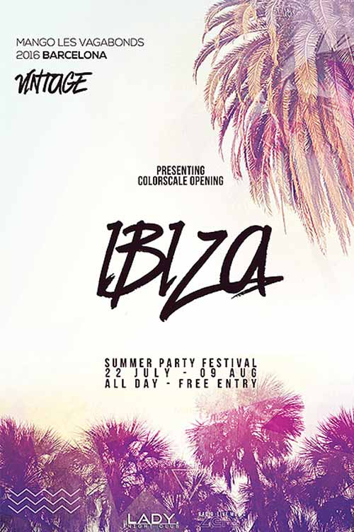 Download the Summer Electro Party Free Flyer Template - electro flyer