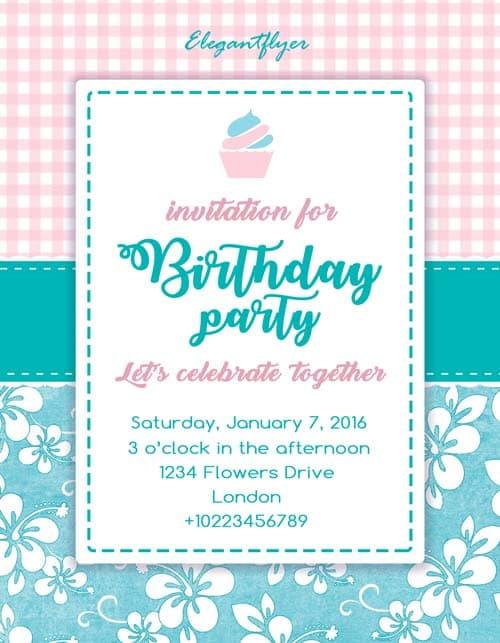 FreePSDFlyer Birthday Party Invitation Free Flyer Template - invitation flyer sample