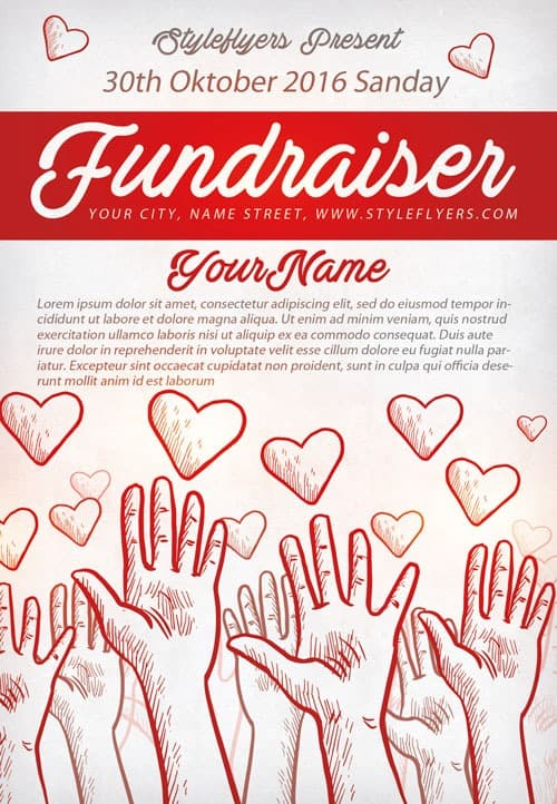 FreePSDFlyer Community Fundraiser Free Flyer Template Download for - fundraiser template free