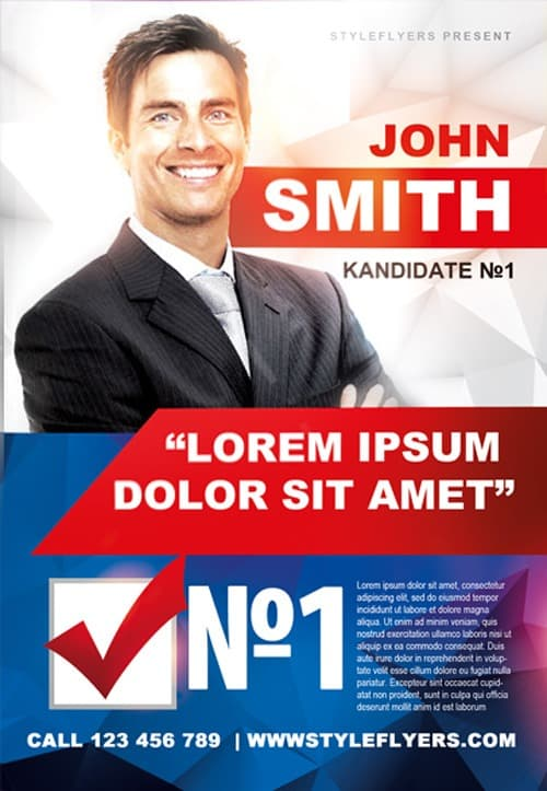 FreePSDFlyer Political Campaign Free Flyer Template - Download for