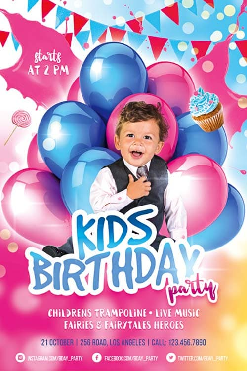 birthday flyer template photoshop - Onwebioinnovate - birthday flyer templates free