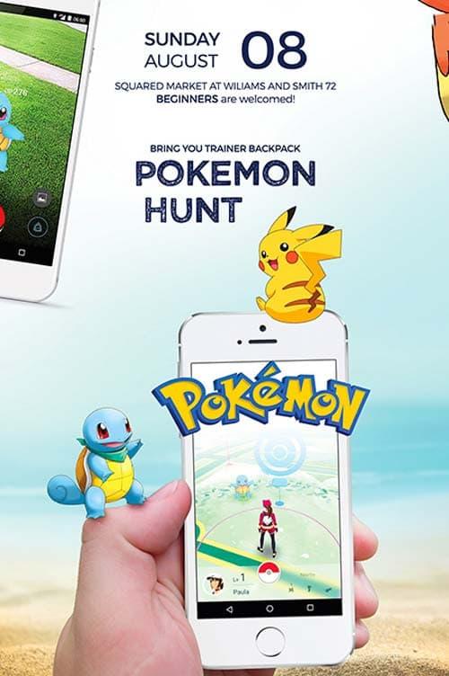 FreePSDFlyer Pokemon Go Free Flyer Template - Download for Photoshop - pokemon template