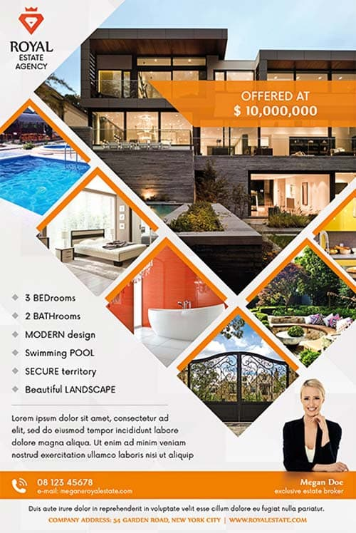 Real Estate Multipurpose Free Flyer Template - Download for Photoshop