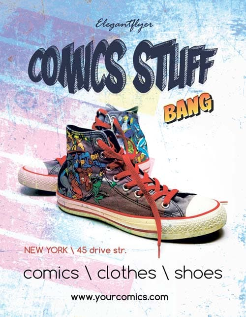 FreePSDFlyer Comics Shop Party Free Flyer Template - Download for - clothing drive flyer template