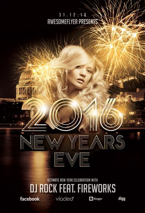 FreePSDFlyer New Year Celebration Free Flyer Template - Download