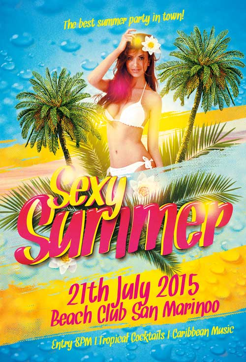 FreePSDFlyer Sexy Summer Party Free Flyer Template - Download for