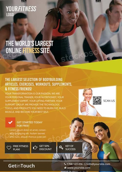FreePSDFlyer Fitness Gym Health Free Flyer Template - Download for