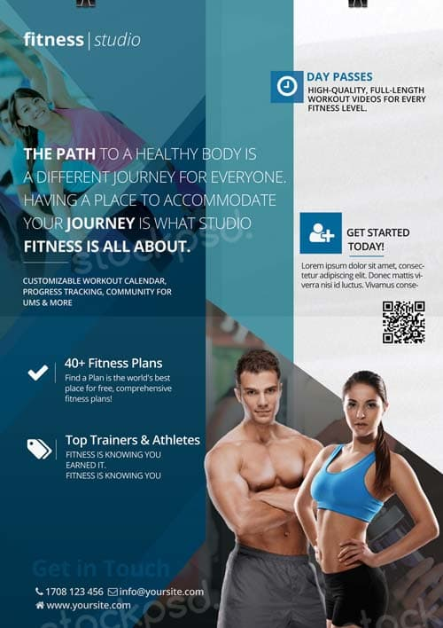 FreePSDFlyer Fitness Studio Free Flyer Template - Download Fitness