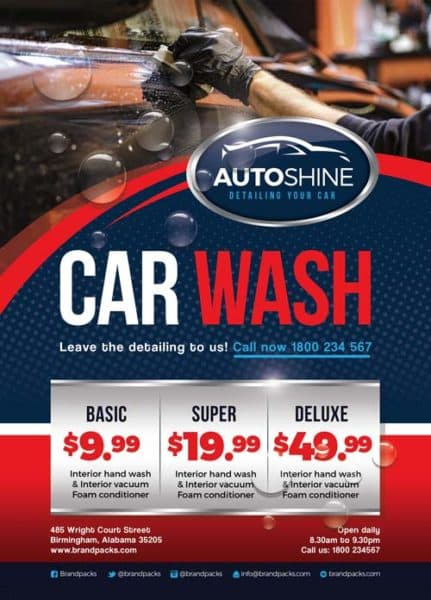 Free Car Wash Business Flyer Template - Download for Photoshop - car wash flyer template