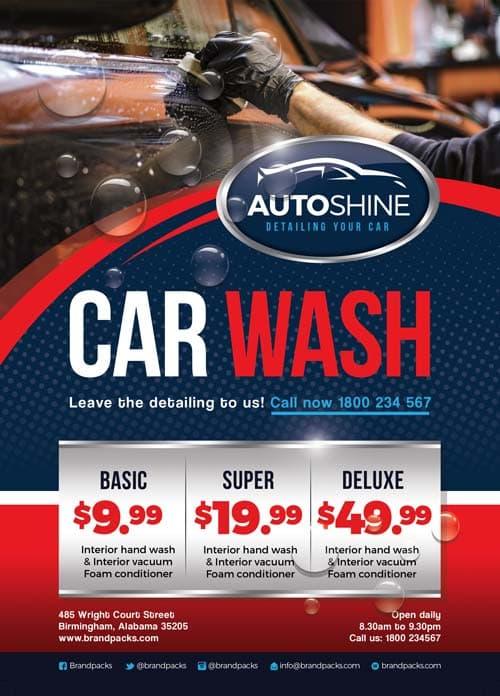 FreePSDFlyer Free Car Wash Business Flyer Template - Download for - car wash flyer template