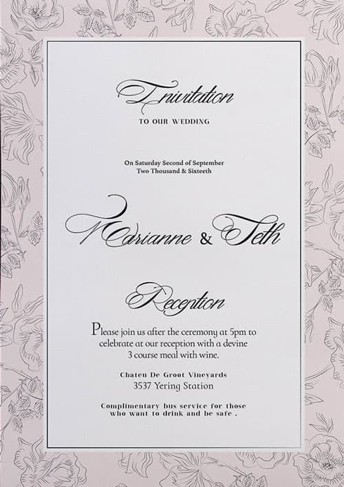 FreePSDFlyer Free Wedding Invitation Flyer Template - Download for - flyer invitation templates free
