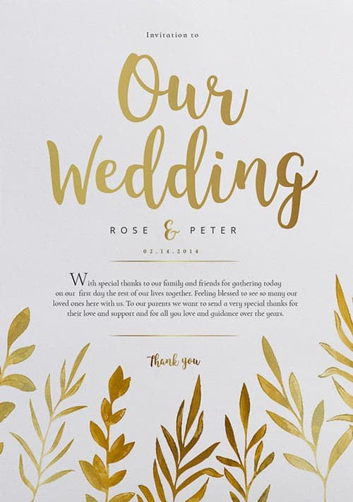 FreePSDFlyer Free Watercolor Wedding Flyer Template - Download - wedding brochure template free