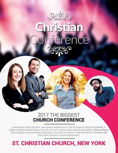 FreePSDFlyer Christian Conference Church PSD Flyer Template