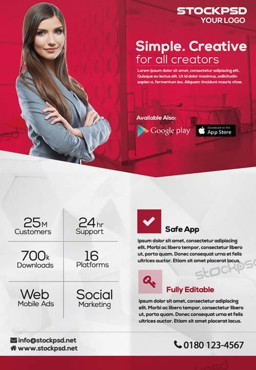 Creative Corporate Free PSD Flyer Template - Download Free - advertising flyer template