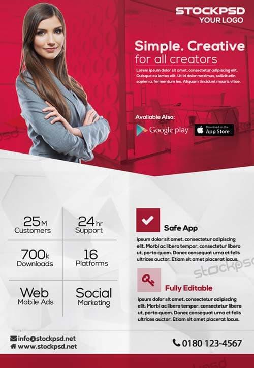 Creative Corporate Free PSD Flyer Template - Download Free - corporate flyer template