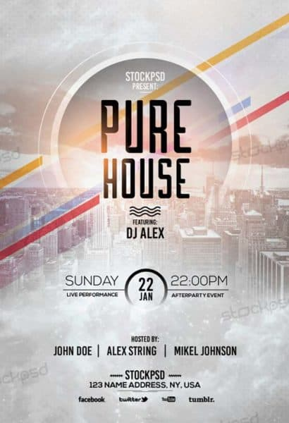 Pure House Free Flyer Template - Download Free Flyer Templates