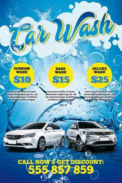 Download the Car Wash Free PSD Poster Template - car wash flyer template