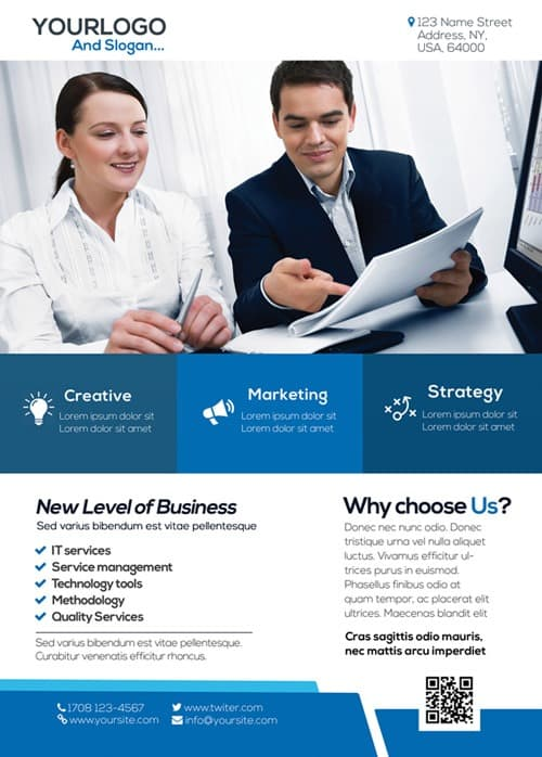 Download the best Free Corporate Flyer PSD Flyer Templates - corporate flyer template