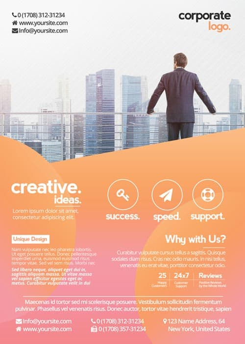 Download the best Free Corporate Flyer PSD Flyer Templates - advertising flyer template