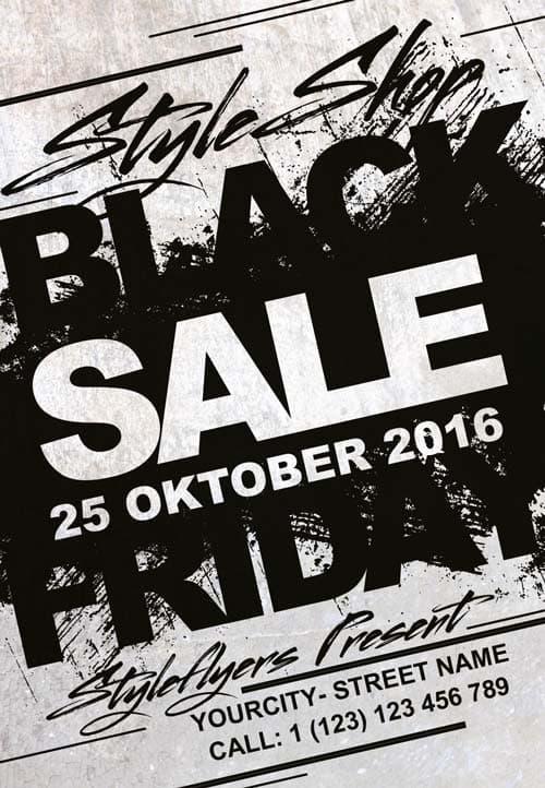 FreePSDFlyer Black Friday Sale Event Free Flyer Template - black and white flyer template