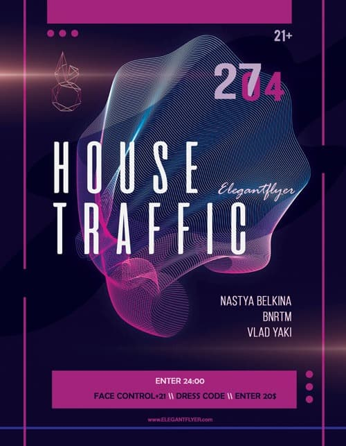 House Music Party Free Flyer Template - Download Flyer Designs