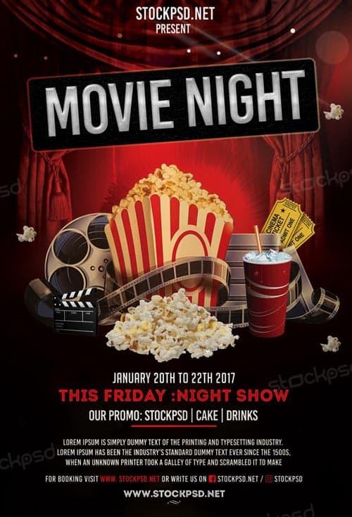 FreePSDFlyer Movie Night Free Flyer Template - Download Flyer