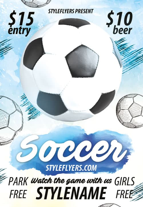 FreePSDFlyer Free Soccer Flyer Template - Download Flyer Templates - soccer flyer template