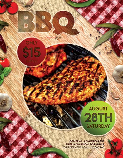 Free BBQ Flyer Template - Download Free PSD Flyer Designs - bbq flyer