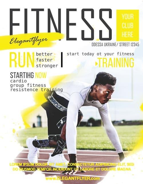 FreePSDFlyer Fitness Sports Free Flyer Template - Download Free Flyer