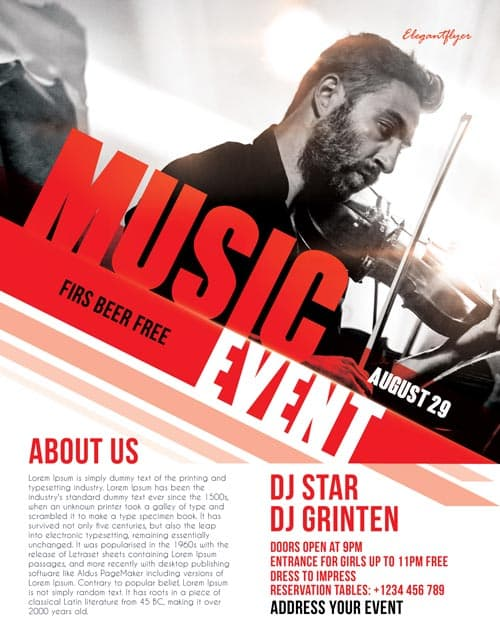 Free Music Event Flyer Template - Download Free Flyer