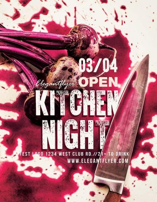 FreePSDFlyer Kitchen Night Free Workshop Flyer Template - Download