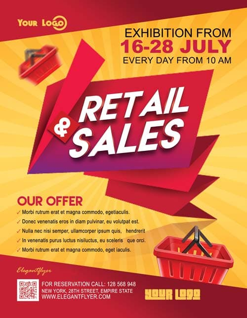 Retail Sales Free Business Flyer Template - Download Free Templates