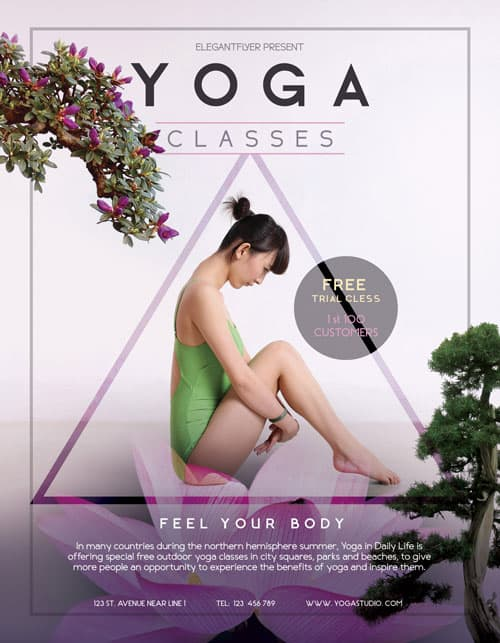 FreePSDFlyer Free Yoga Flyer Template - Download Free PSD Flyer - yoga flyer