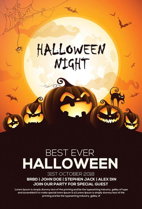 Download Free Halloween Flyer PSD Templates for Photoshop! - halloween invitation template