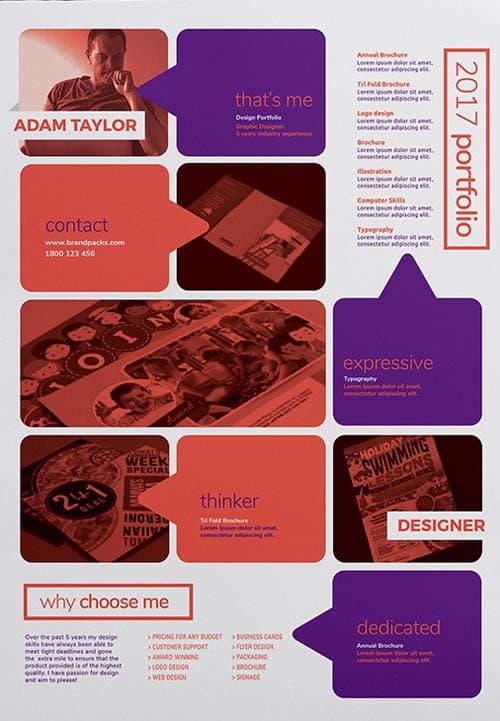 FreePSDFlyer Free Creative Portfolio Poster Template for Creative