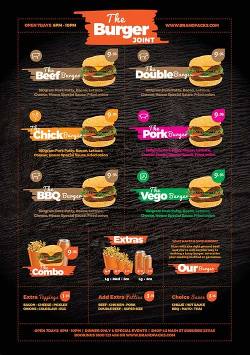 FreePSDFlyer Fast Food Menu Free Poster Template for Photoshop and - free food menu template