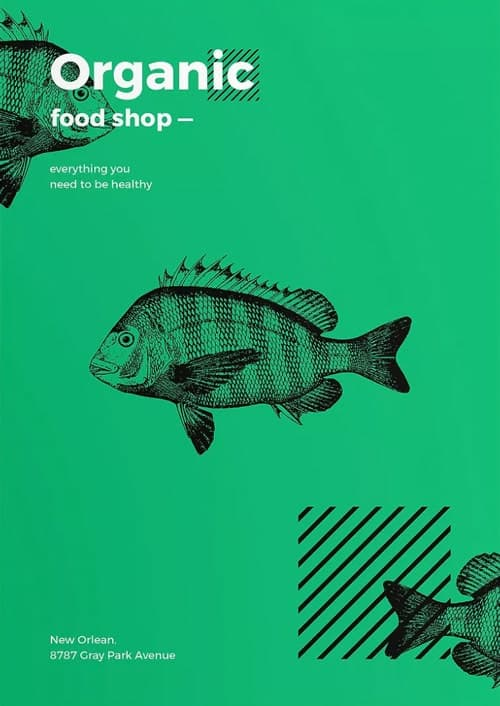 Organic Food Shop Free Flyer and Poster Template for Organic Markets