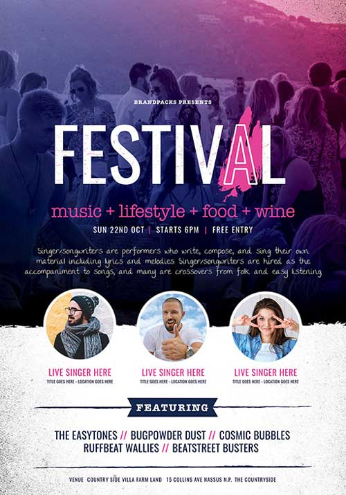 Free Festival and Concert Flyer Template - Download Flyer FreePSDFlyer
