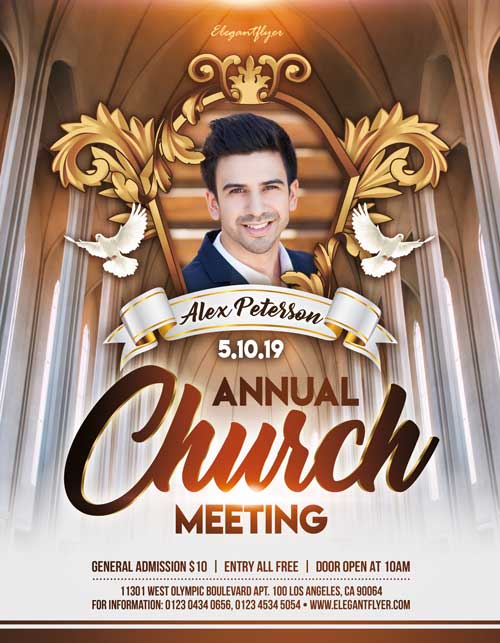 Free Annual Church Meeting Flyer Template - Free Flyer FreePSDFlyer