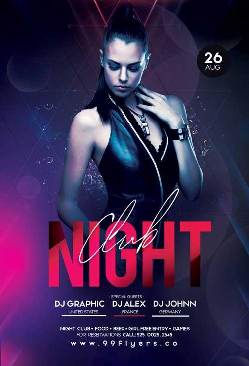 night club flier