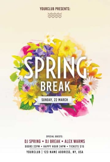 Download the best Free Spring Flyer PSD Templates for Photoshop!