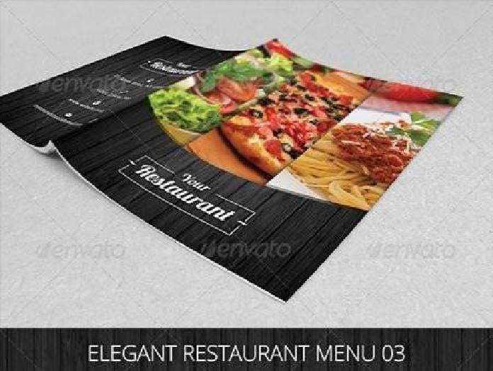 Elegant Restaurant Menu 03 6953680 \u2022 FreePSDvn